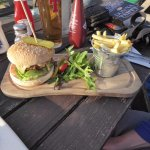 This burger cost less than the cheeseboard! I think it was £7.95