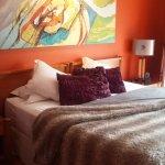 la chambre et le lit si confortable