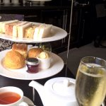Yesterday we had an amazing cream tea and champagne