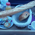 breakfast tray! (if you order a baguette as well the 'complet')
