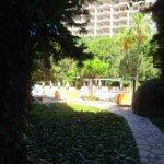 Территория отеля - один сплошной сад