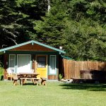Cabin 9 with hot tub on right