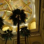 full size palm trees inside the Hotel