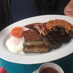 Vegetarian and a big Scottish Breakfast