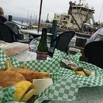 Dockside view eating Fish & Chips