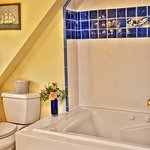 Wisteria Room's bath with Jacuzzi tub.
