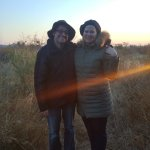 Enjoying a beautiful sunset on one of our game drive picnics