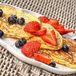 Our famous ricotta cheese pancakes...YUM!!