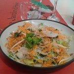 Salade crevettes menu 14€