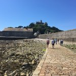 St. Michael's Mount with the tide out, near Penzance.