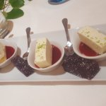 Mignardises, pate de fruit maison, cheescake agrumes