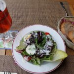 mixed salad and brown bread