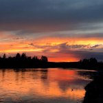 Sunset over the Snake River