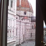 View from the room window to the Dome of Florence
