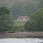 A traditional croft house across the loch from Fort William
