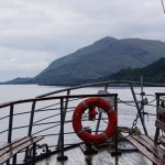 It's a nice traditional motor vessel and the loch is fairly calm.
