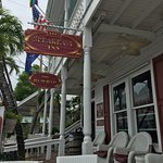 Front porch on Duval Street to sit and sip the FREE rum punch!