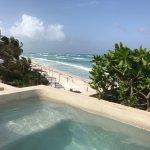 Penthouse plunge pool, overlooking Sanara Tulum hotel next door
