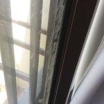 Filthy bedroom window