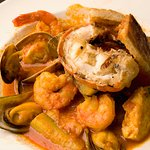 Bouillabaisse: a French touch in an Italian cuisine.