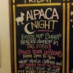 Alpaca Night!