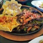 Lunch beef fajitas....very good!