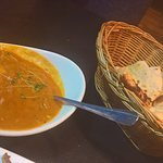 ... peshwari naan and vegetable sauce ... delightful!