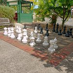 Oversized Outdoor Chess and Checker Board