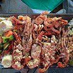 Lobster and shrimp platter