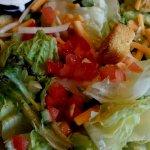 Ordered Caesar Salad, served tossed salad