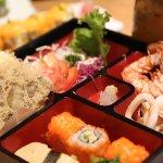 Bento Seafood Tempura Set.