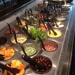 Buffet and salad bar.