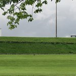 Grassy hill surrounding fort