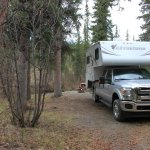 RV campsite with water and electric
