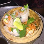 Vermicelli dumpling wrapped in rice paper, excellent accompanied with their tamarind sauce.