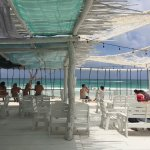 Shower on beach and beach bar