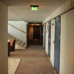 zona de ascensores en una planta