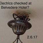 Just read the thanks from the hotel. The electrics weren't checked the week we were there.