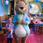 Peter Rabbit & His Super Fan at the Tea Party