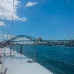 Coming up to Sydney Bridge