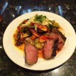 Cauliflower 'steak' w/ bistro beef. Delicious!!