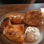 half chicken and sides