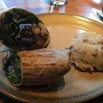 portobello mushroom & halloumi wrap