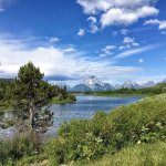 Oxbow Bend in early July on the Snake River in Grant Teton National Park