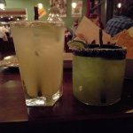 Traditional Marg on the left, Cucumber-Lime on the right