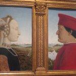 The Duke and Douchess painting at Uffizi Gallery