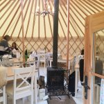 Teepee at the back of the Dabbling Duck