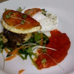 Wild mushroom, spinach and goat's cheese vol-au-vent