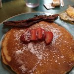 Pancakes bigger than your head and bacon
