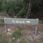 Sign to the Beach